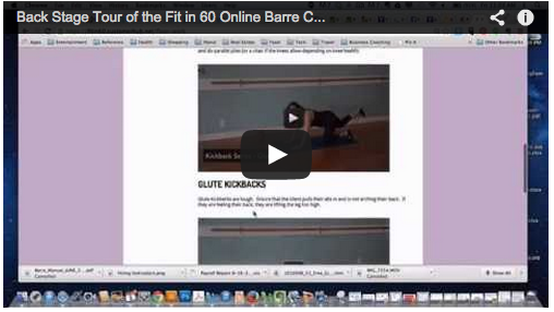 Fit in 60 Online Barre Certification Program