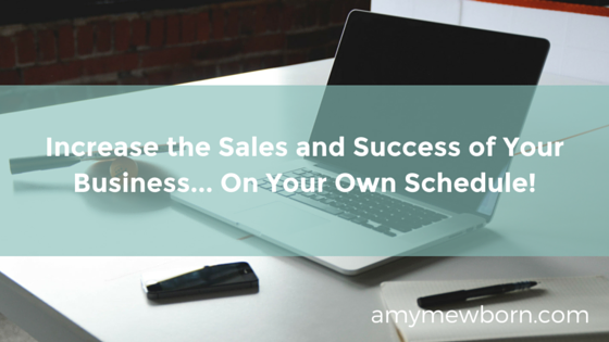 Increase the Sales and Success of Your Business... On Your Own Schedule!