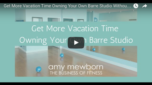 Get More Vacation Time By Owning Your Own Barre Studio