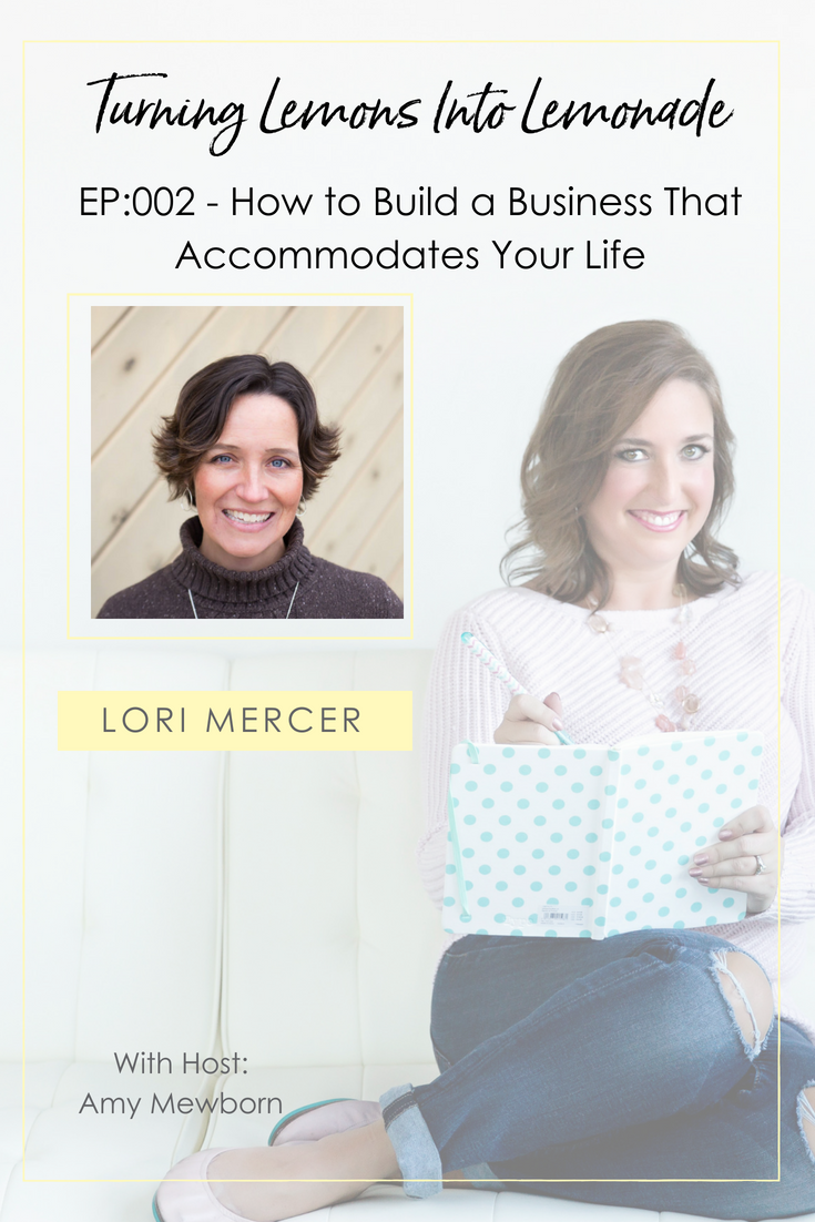 The Turning Lemons Into Lemonade Podcast with Amy Mewborn - Guest Lori Mercer